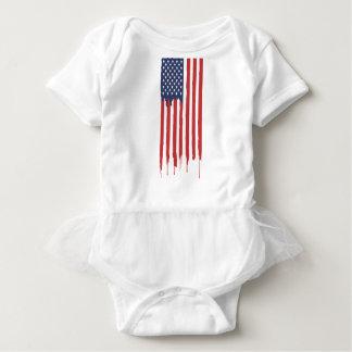 American Flag Graffiti Usa United Baby Bodysuit