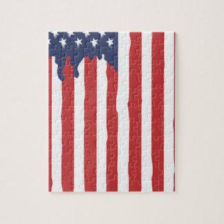 American Flag Graffiti Usa United Jigsaw Puzzle