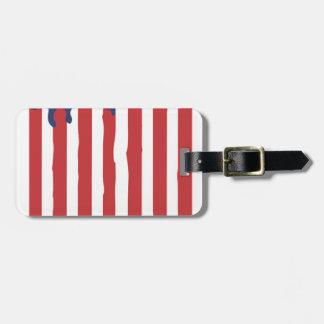 American Flag Graffiti Usa United Luggage Tag