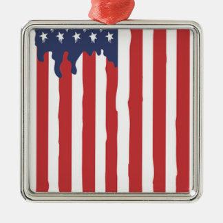 American Flag Graffiti Usa United Metal Ornament