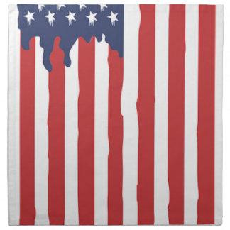 American Flag Graffiti Usa United Napkin