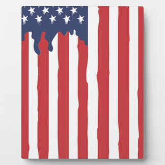 American Flag Graffiti Usa United Plaque