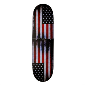 American Flag Grunge Custom Pro Slider Board Skateboard Deck