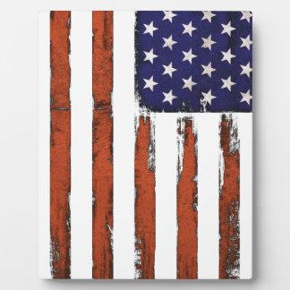 American Flag Grunge Edition Plaque