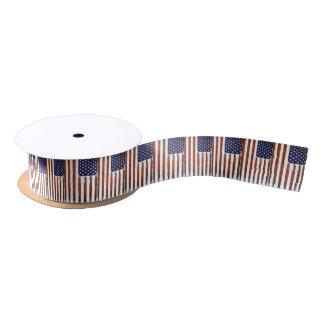 American Flag Grunge Edition Satin Ribbon