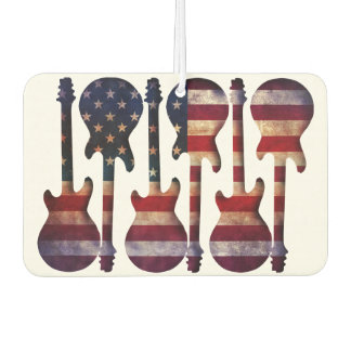 American Flag Guitar Art Car Air Freshener