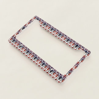 American Flag Guitar Art License Plate Frame