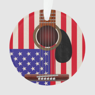 American Flag Guitar Ornament