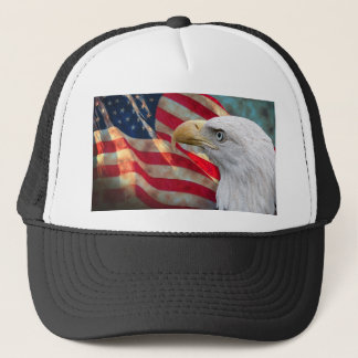 American Flag Hat with Eagle