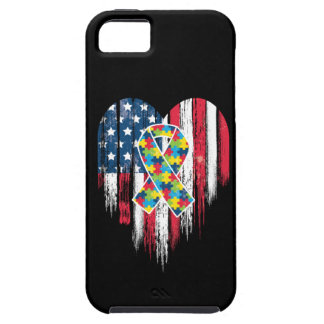 American Flag Heart Autism iPhone 5 Cover