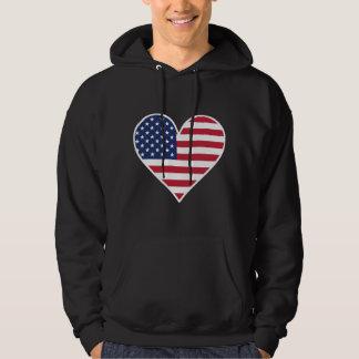 American Flag Heart Hoodie