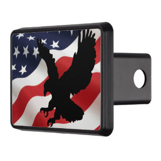 """American Flag Hitch Cover 2"""" Receiver."""