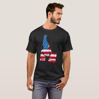 American Flag Idaho Deer Hunting Patriotic T-Shirt