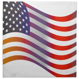 American Flag Illustration Napkin