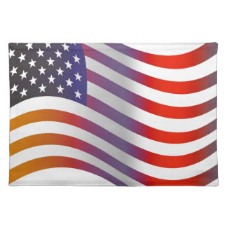 American Flag Illustration Placemat