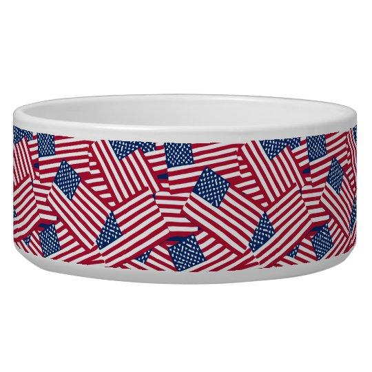 American flag in overlap