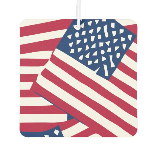 American flag in overlap air freshener