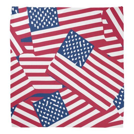 American flag in overlap bandana
