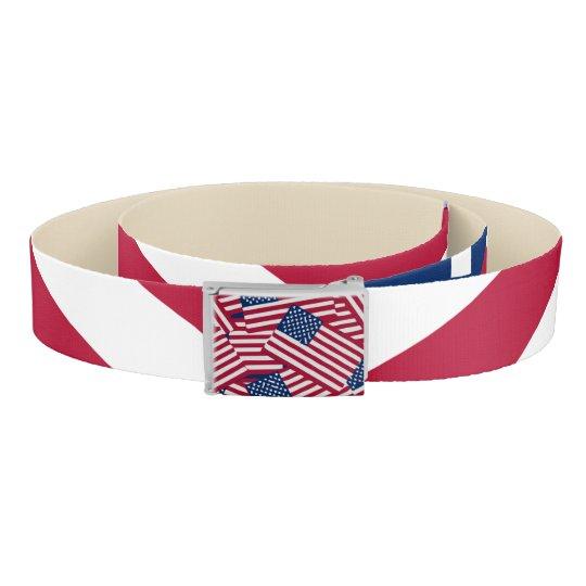 American flag in overlap belt
