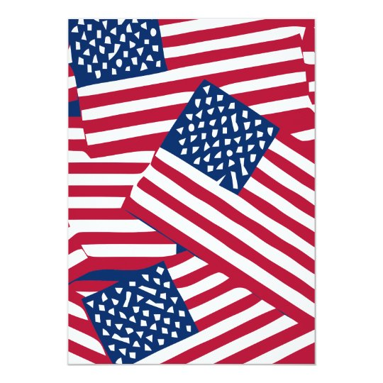 American flag in overlap card