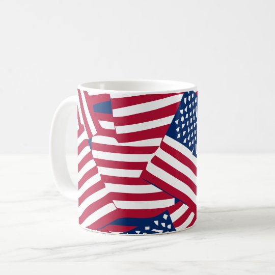 American flag in overlap coffee mug