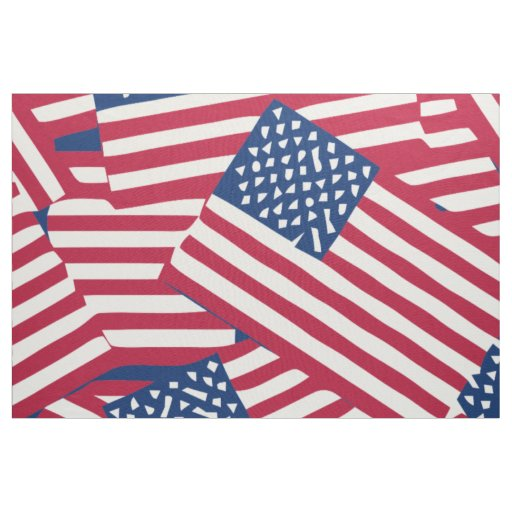 American flag in overlap fabric