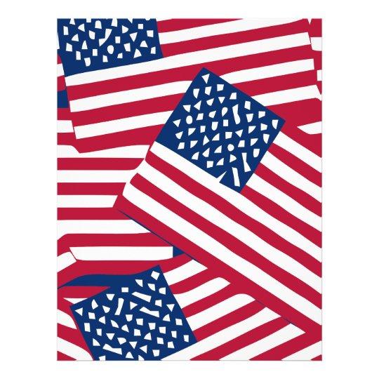American flag in overlap flyer