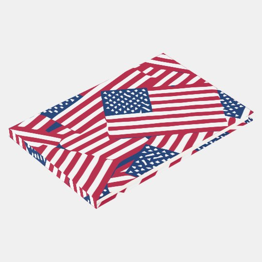 American flag in overlap guest book
