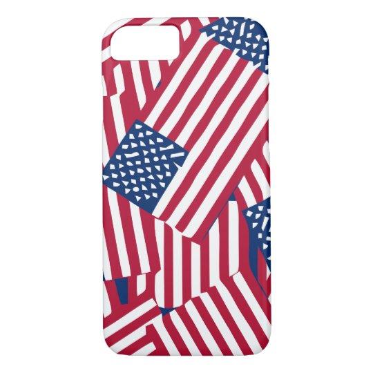 American flag in overlap iPhone 8/7 case