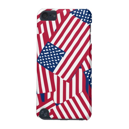 American flag in overlap iPod touch (5th generation) cases