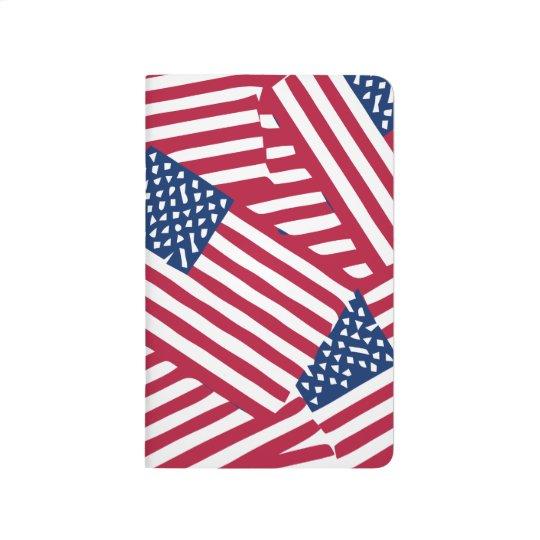 American flag in overlap journal