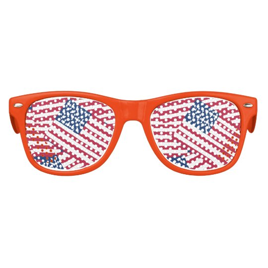 American flag in overlap kids sunglasses