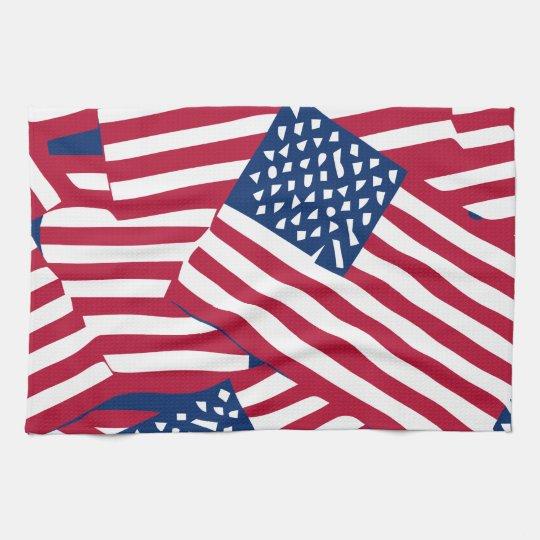 American flag in overlap kitchen towel