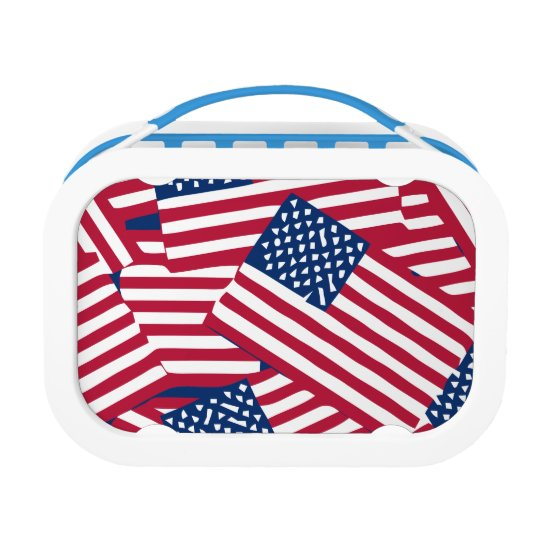 American flag in overlap lunch box