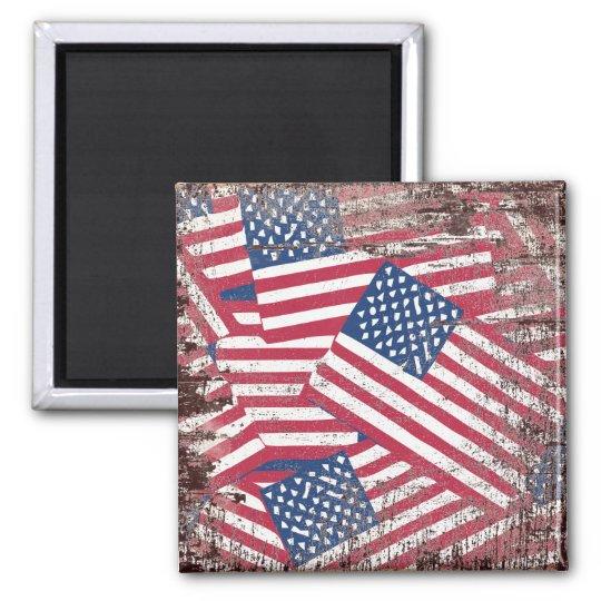 American flag in overlap magnet