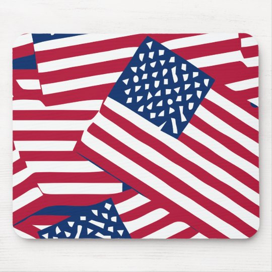American flag in overlap mouse pad