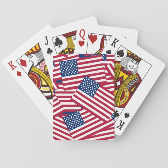American flag in overlap playing cards