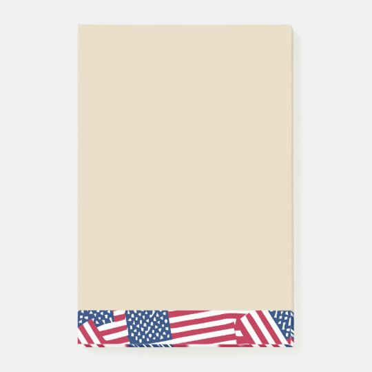 American flag in overlap post-it notes