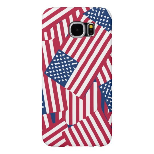 American flag in overlap samsung galaxy s6 cases