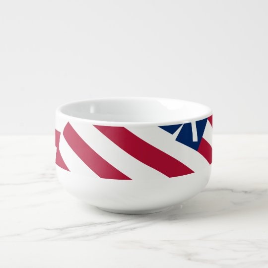 American flag in overlap soup mug
