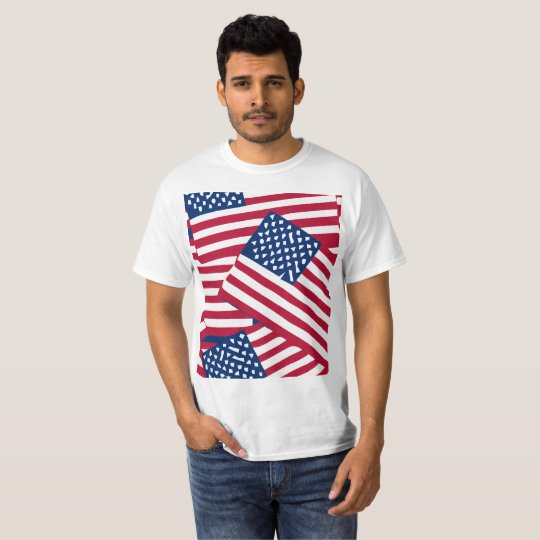 American flag in overlap T-Shirt