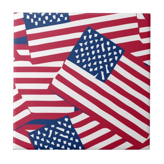 American flag in overlap tile