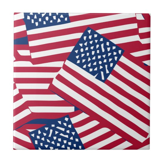 American flag in overlap tile