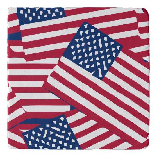 American flag in overlap trivet