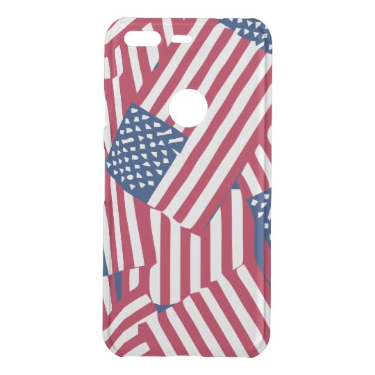 American flag in overlap uncommon google pixel case
