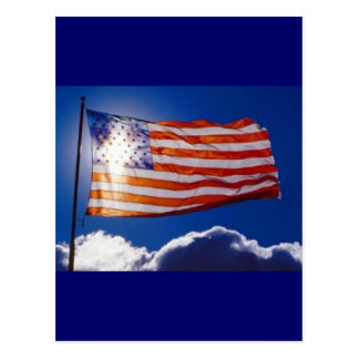 American Flag in Sunlight Postcard