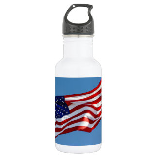 American Flag in the Wind 532 Ml Water Bottle