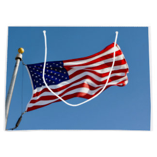 American Flag in the Wind Large Gift Bag