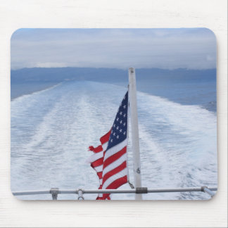 American flag in the wind mousepad