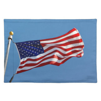 American Flag in the Wind Placemat